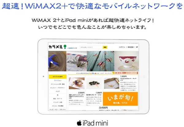 GMOとくとくBB WiMAX 2+ iPad mini