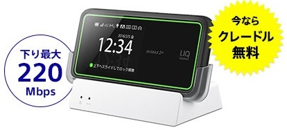 So-net WiMAX2+のW02クレードルセット