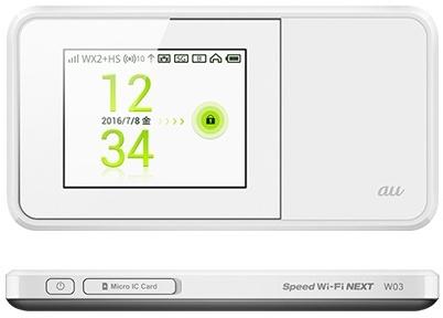 Speed Wi-Fi NEXT W03モード